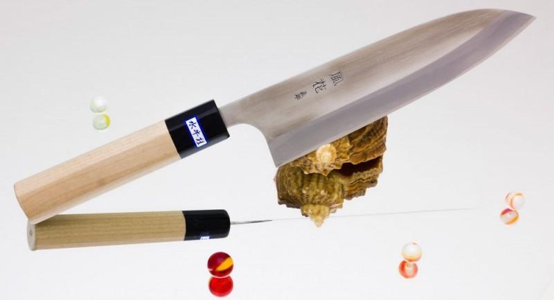 Поварской кухонный нож Gihei-Hamono HAP-40 Gyuto 180 мм.