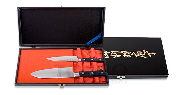 Набор из 2 ножей: нож Сантоку и универсальный Tojiro FD-141