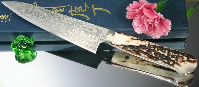Универсальный кухонный нож Hiroo Itou Damascus Petty, 130 мм