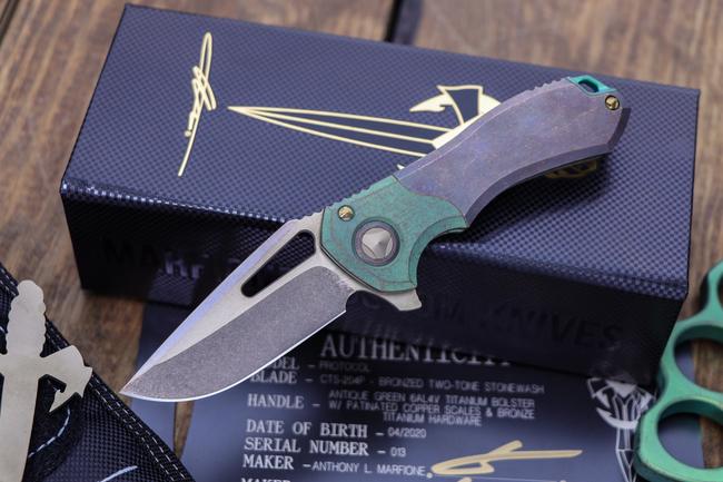 Складной нож Microtech Marfione Custom Protocol Copper