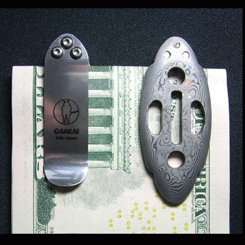 Зажим для денег Samurai Money Clip damascus, 71 слой
