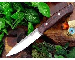 Нож туристический Bark River Aurora Black&Red Linen Micarta