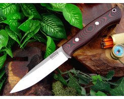 Нож туристический Bark River Aurora Black&Red Linen Micarta