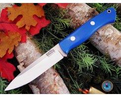 Нож туристический Bark River Aurora Blue Glow G-10
