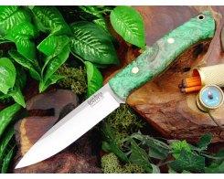 Нож туристический Bark River Aurora Emerald Elder Burl