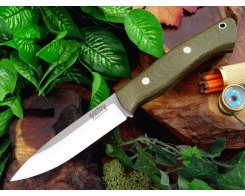 Нож туристический Bark River Aurora Green Canvas Micarta