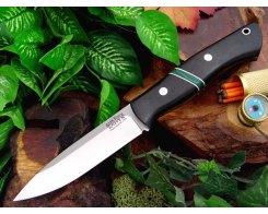 Нож туристический Bark River Aurora Jade Malachite Spacer