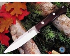 Нож туристический Bark River Aurora Maroon Linen Micarta