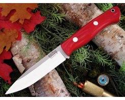 Нож туристический  Bark River Aurora Red Linen Micarta