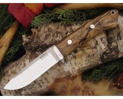 Нож туристический Bark River Drop Point Hunter Black&White Ebony