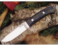 Нож туристический Bark River Drop Point Hunter Blue Green Gold Elder Burl