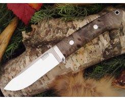 Нож туристический Bark River Drop Point Hunter California Buckeye Burl