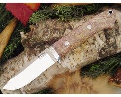 Нож туристический Bark River Drop Point Hunter Gold Grey Elder Burl