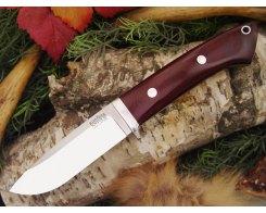 Нож туристический Bark River Drop Point Hunter Maroon Linen Micarta