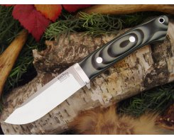 Нож туристический Bark River Drop Point Hunter Midnite Tiger G-10