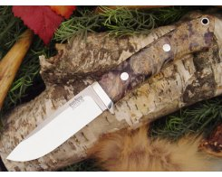 Нож туристический Bark River Drop Point Hunter Purple Gold Black Elder Burl