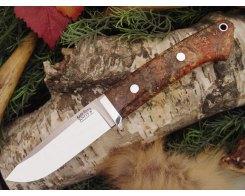 Нож туристический Bark River Drop Point Hunter Salmon Black Elder Burl