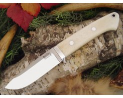 Нож туристический Bark River Drop Point Hunter Smooth Bone