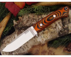 Нож туристический Bark River Drop Point Hunter Tigerstripe G-10