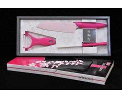 Набор розовый Hatamoto HT01SET, с керамическим покрытием