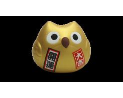 """Фигурка """"Манэки- Сова"""" Hatamoto MS-01, 5см, ручная работа, золотая"""
