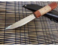 Якутский нож ручная ковка, Антарес Y95M-PB, падук+береста, 95Х18, 13,3 см