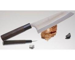 Кухонный нож Kajibee Aogami Regular Santoku 165 мм