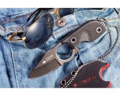 Шейный нож Kizlyar Supreme 00024 Amigo X D2 Black, 13,3 см.