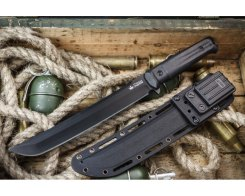 Тактический нож Kizlyar Supreme 000497 Sensei, AUS-8 Black Titanium