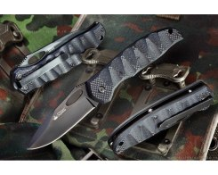 Складной нож Kizlyar Supreme 000711 Hero 440C Black, 75 мм.