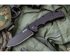 Складной нож Kizlyar Supreme 5417 Bloke X D2 Black Tinanium, 22 см.