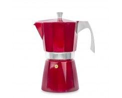 Кофеварка гейзерная на 9 чашек для всех типов плит IBILI Evva 623209, цвет красный