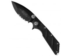 Складной нож Microtech DOC Black Serr. 153-2