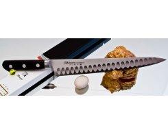 Универсальный узкий нож Misono Molibden Steel с проточкой Sujihiki 360 мм.