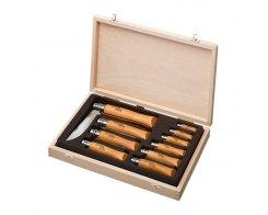Набор Opinel в деревянной коробке 10 ножей, углеродистая сталь, бук