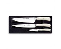 Набор ножей, 3 штуки Wuesthof Ikon Cream White 9601-0 WUS
