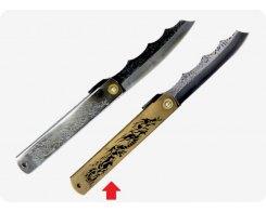 Складной нож хигоноками Nagao Higonokami HPDA-100Brass