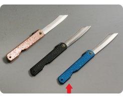 Складной нож хигоноками Nagao Higonokami HWA-80Blue
