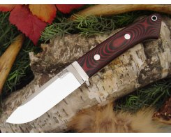 Нож туристический Bark River Drop Point Hunter Black&Red G-10