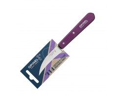 Нож для чистки овощей Opinel №114, нержавеющая сталь, сливовый, 70 мм.