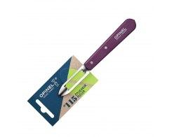 Нож для чистки овощей Opinel №115, нержавеющая сталь, сливовый, 100 мм.