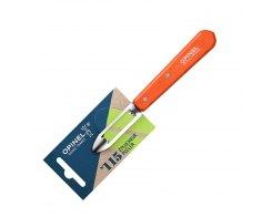 Нож для чистки овощей Opinel №115, нержавеющая сталь, красный, 100 мм.