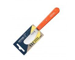 Нож для масла Opinel №117, нержавеющая сталь, оранжевый, 70 мм.