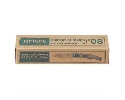 Складной садовый нож Opinel №8, нержавеющая сталь, коробка, 85 мм.