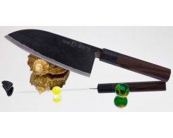 Поварской нож Takeda Hocho NAS, Banno Funayuki-Bocho (Сантоку), 170 мм.