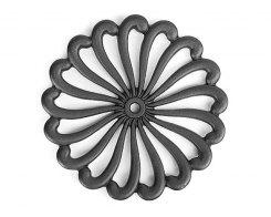 Чугунная подставка под горячее IWACHU 17028, 21 см. цветок, цвет черный