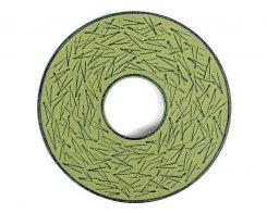 Чугунная подставка под чайник IWACHU 17434, 14,5 см. круг, сосновая игла, цвет зеленый