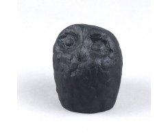 Пресс-папье - чугунный прижим для бумаги IWACHU 30020, Сова черная