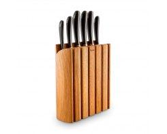 Набор из 6-ти кухонных ножей на подставке из бука, Robert Welch SIGBO2097V/7, сталь X50CrMoV15.