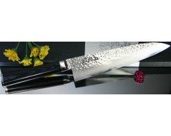 Кухонный поварской шеф нож RyuSen hammered Damascus RYS-83